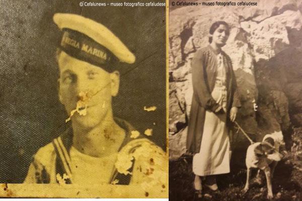 """Foto a sx: 1934 Giuseppe GloriosoMilitare- Foto dx 1938 Maria Battaglia """"36"""" fidanzata di Giuseppe Glorioso"""