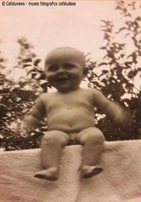 Il piccolo Romeo Glorioso figlio di Giuseppe a 6 mesi