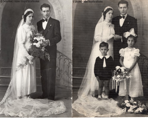 1938: Il papà di Salvuccio, Pasquale, sposa la sua fidanzata Annetta Vazzana.