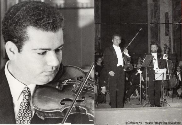 A sinistra Salvatore Cicero. A destra nel 1971 a Palermo presso l'auditorium SS Salvatore con Giovanni Perriera