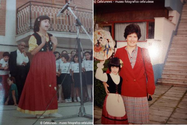 """1984: Barletta in occasione del Concorso """"Canti, danze popolari"""". Maria Elisa con la mamma Nunziella che l'accompagnava nei suoi viaggi"""