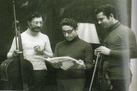 1975 Conservatorio V. Bellini a sx Salvo Cicero- Giovanni Perreira- Eliodoro Sollima direttore del'istituto