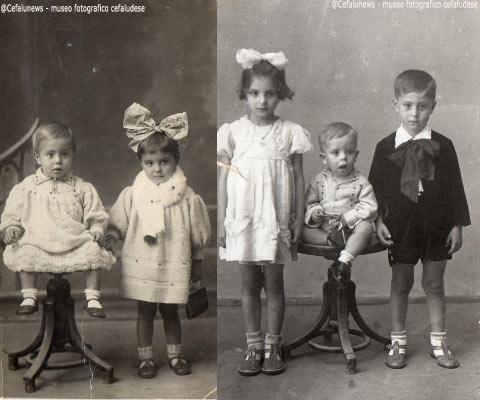 Foto sx : I figli di Peppe Forte, Pietro e Anna ; Foto dx: Anna, Pietro ed il piccolo Carmelo Forte
