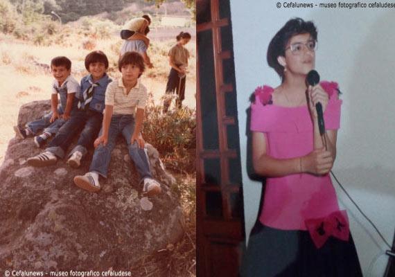 Foto a sx: 1980 Cefalù scout -Maria Elisa nelle vesti di coccinella. Foto a dx: Maria Elisa nelle vesti di cantante