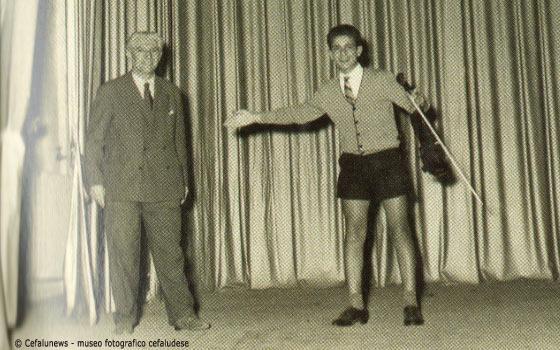 1955: Il giovanissimo Salvo Cicero con il suo maestro Guido Ferrari al Conservatorio V. Bellini di Palermo