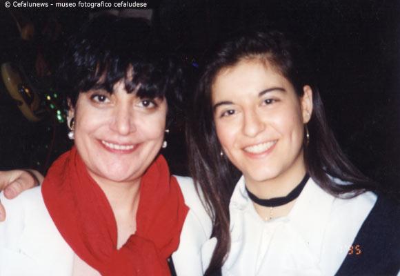 1995 Capodanno Hotel Costa Verde Cefalù : Maria Elisa con Mia Martini