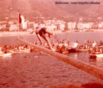 1975 Santo Aquia in una delle ultime partercipazioni alla ntinna a mari