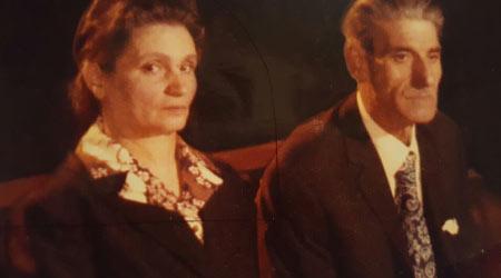 Machì Giuseppe in una foto degli ultimi anni di vita, accanto la moglie Rosaria