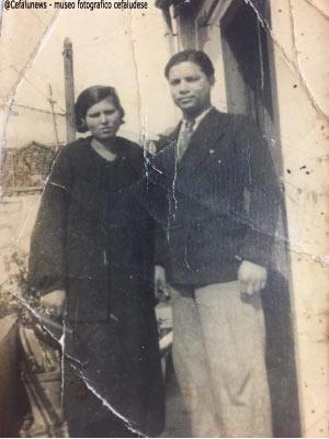 1946 Marietta con il marito Peppe Serio che faceva il calzolaio