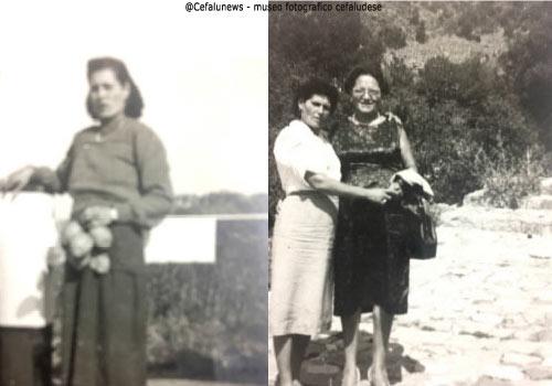 1950 a sx Marietta ; foto a dx Marietta con una parente emigrata in U.S.A