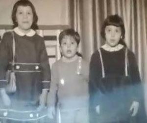 I tre figli di Vanni Scorsone da sx : Maria Giovanna, Franco, Rosa
