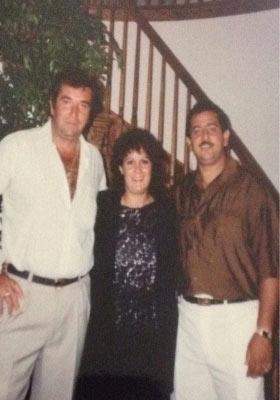 Carmelo Fertitta a sx con la sorella Rosanna ed il cognato Franco Portera