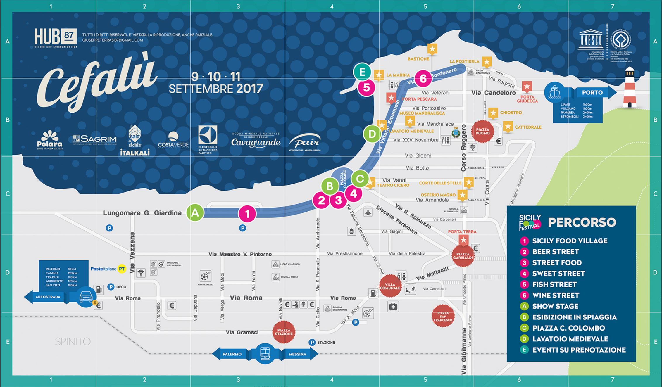 Sicily food festival mappa e programma della manifestazione for Programma della mappa della casa