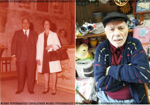 Foto a sx : Castè in occasione del loro 50° anniversario di matrimonio . Antonia decide di indossare per l'ccasione un soprabitino bianco. Fota a dx: un adelle ultime immagini di Castè