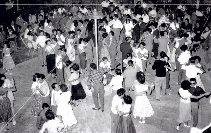 Pista da ballo del Santa Lucia dove si esibiva il maestro Vincenzo Curreri